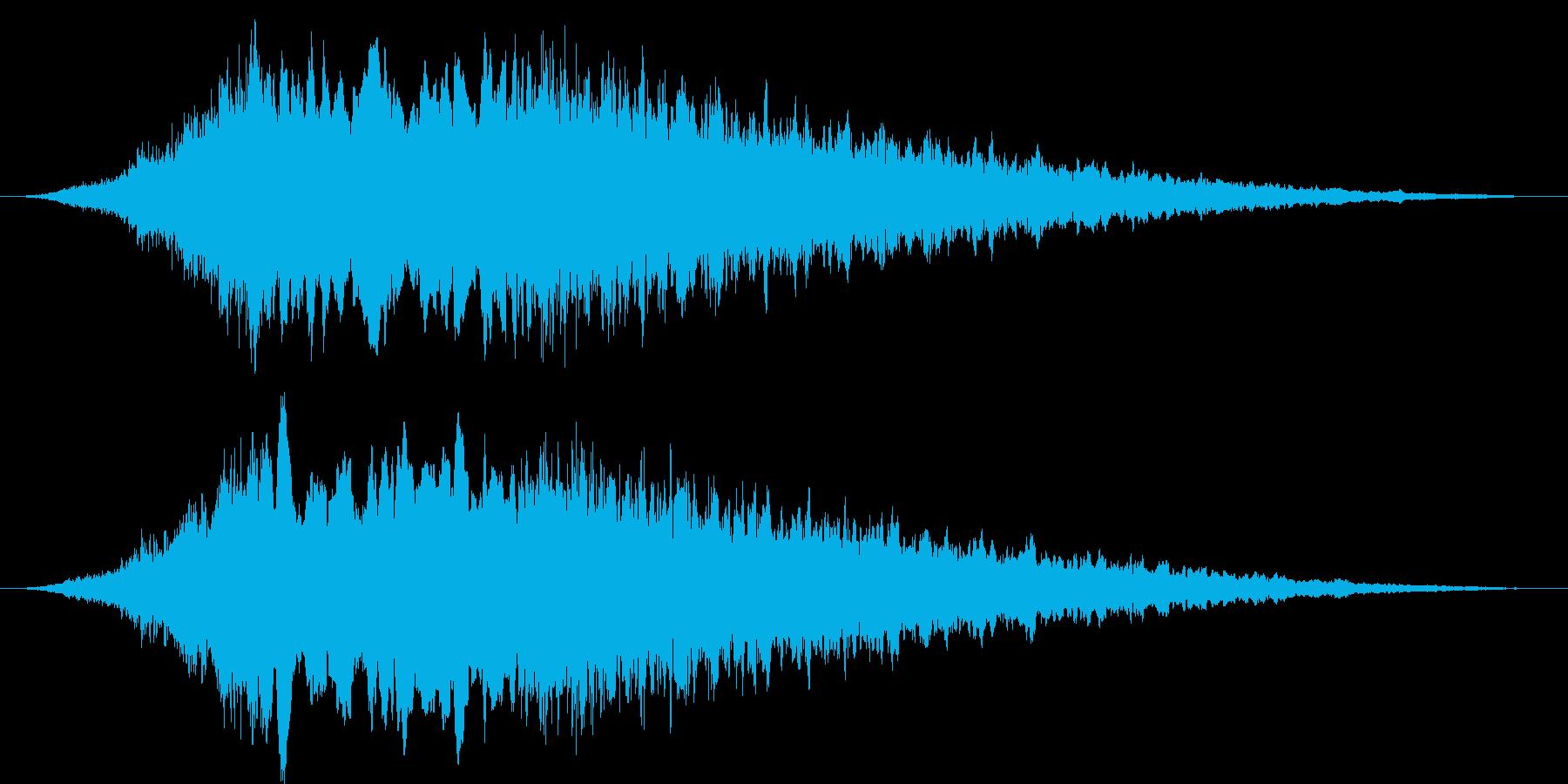 野球場のサイレンの再生済みの波形