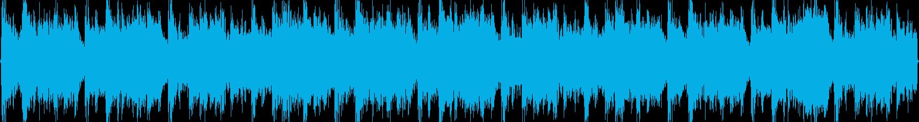 トランス風味のドラム&ベース曲ですの再生済みの波形