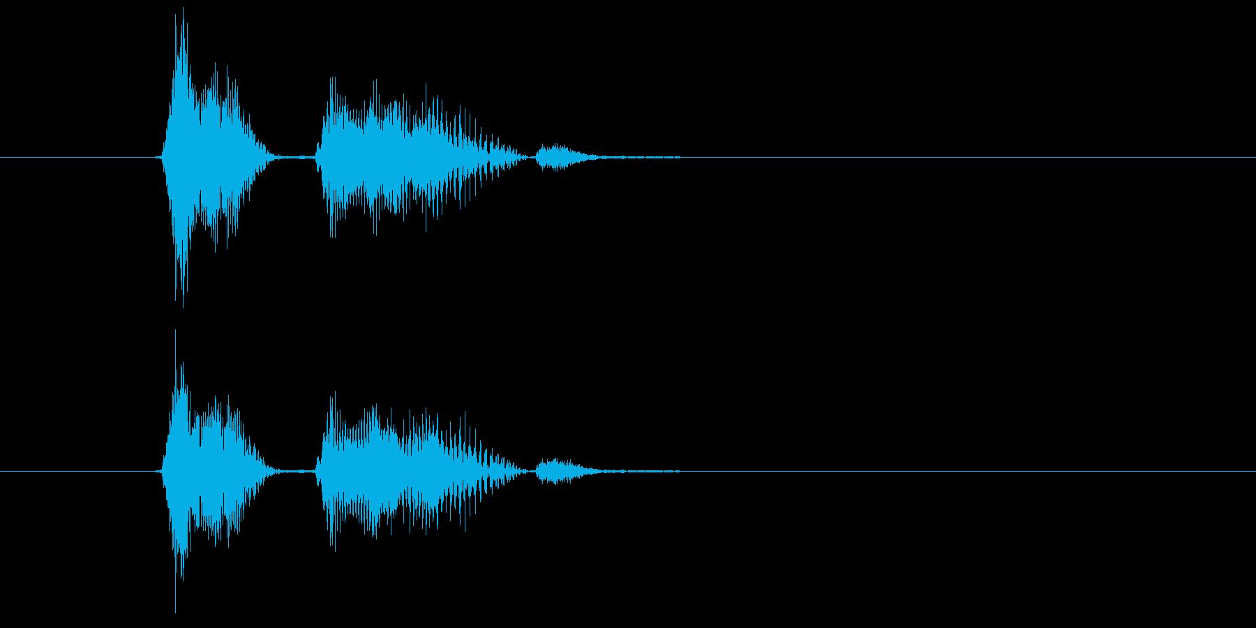 Check pointの再生済みの波形