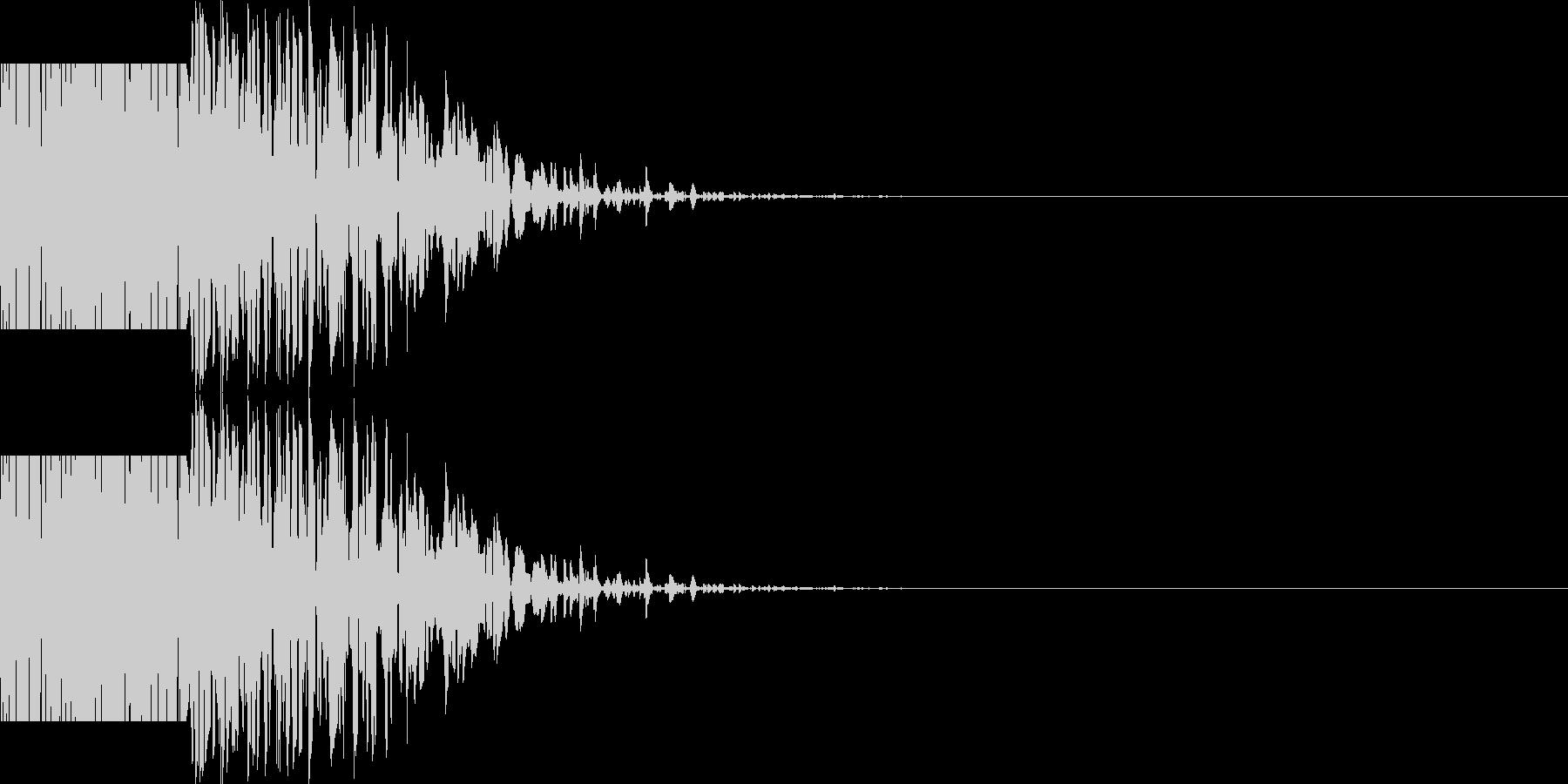 ズシン(重い足音系)01の未再生の波形