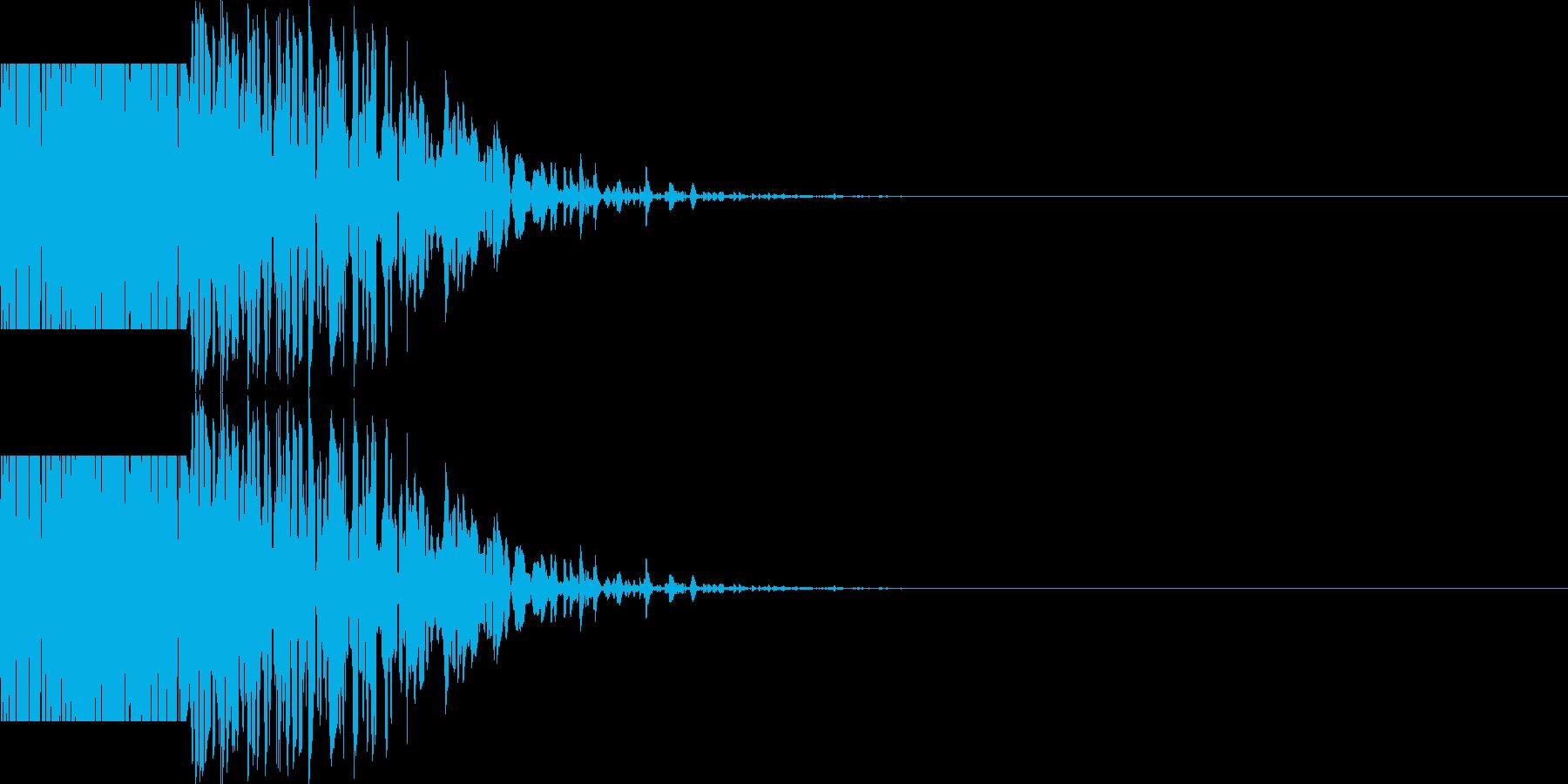 ズシン(重い足音系)01の再生済みの波形