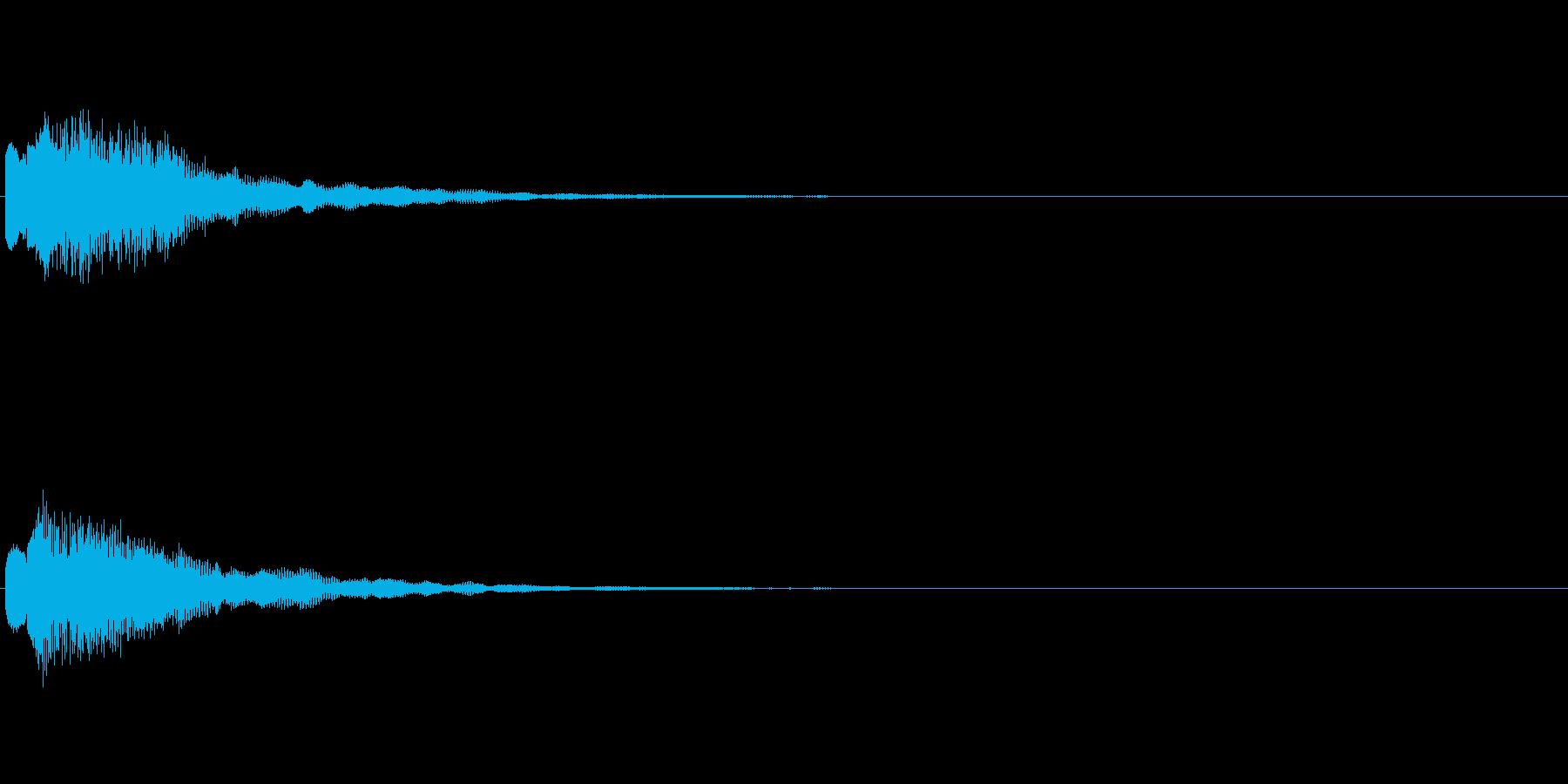 スイッチ ニュース ゲーム 電子音 の再生済みの波形