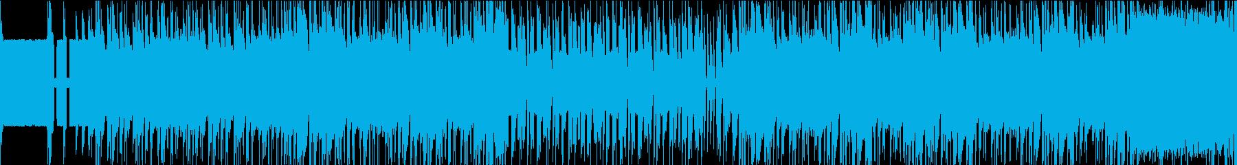 ファミコンゲームのボス戦っぽいBGMの再生済みの波形
