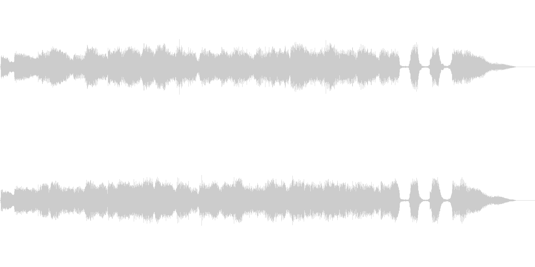 ジャズとポップスを組み合わせたBGMの未再生の波形