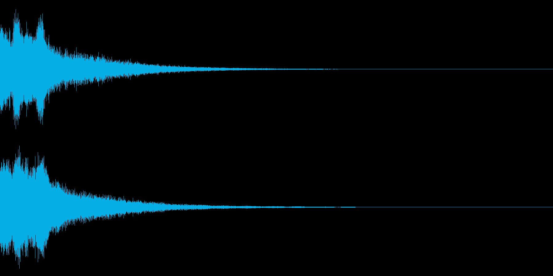 ピンポンピンポン!キラキラ光る正解音02の再生済みの波形