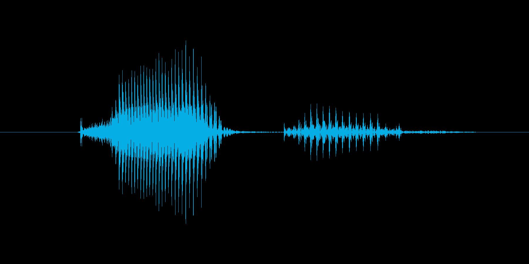 キーパーの再生済みの波形