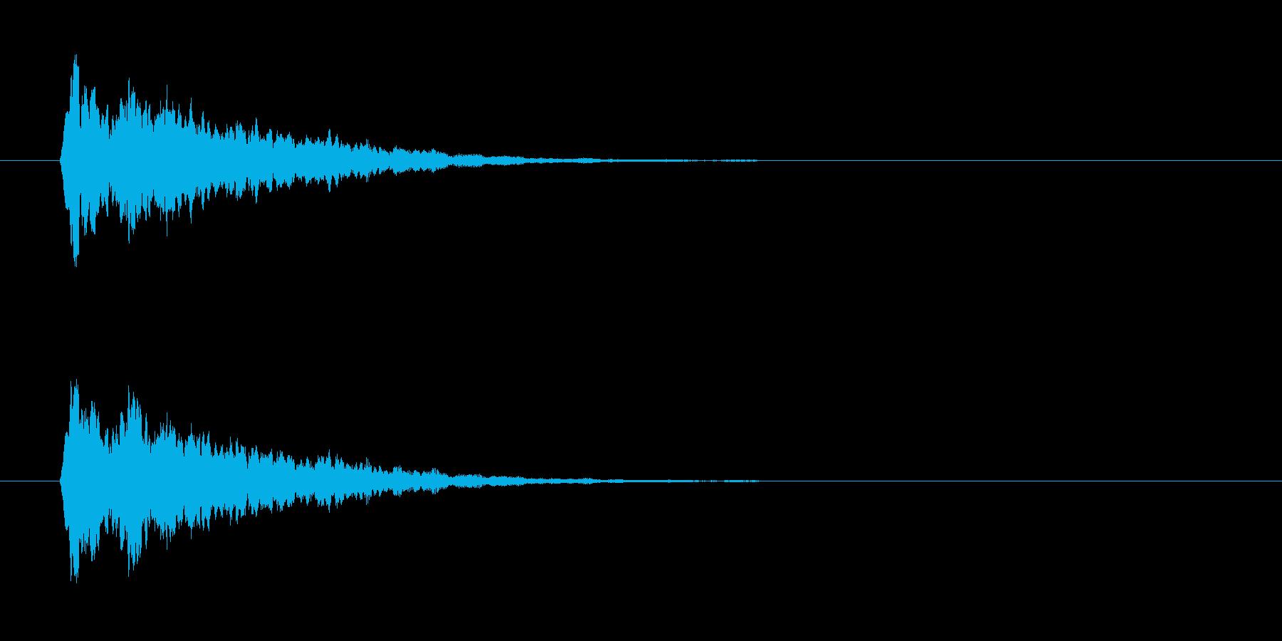 きらーん音の再生済みの波形