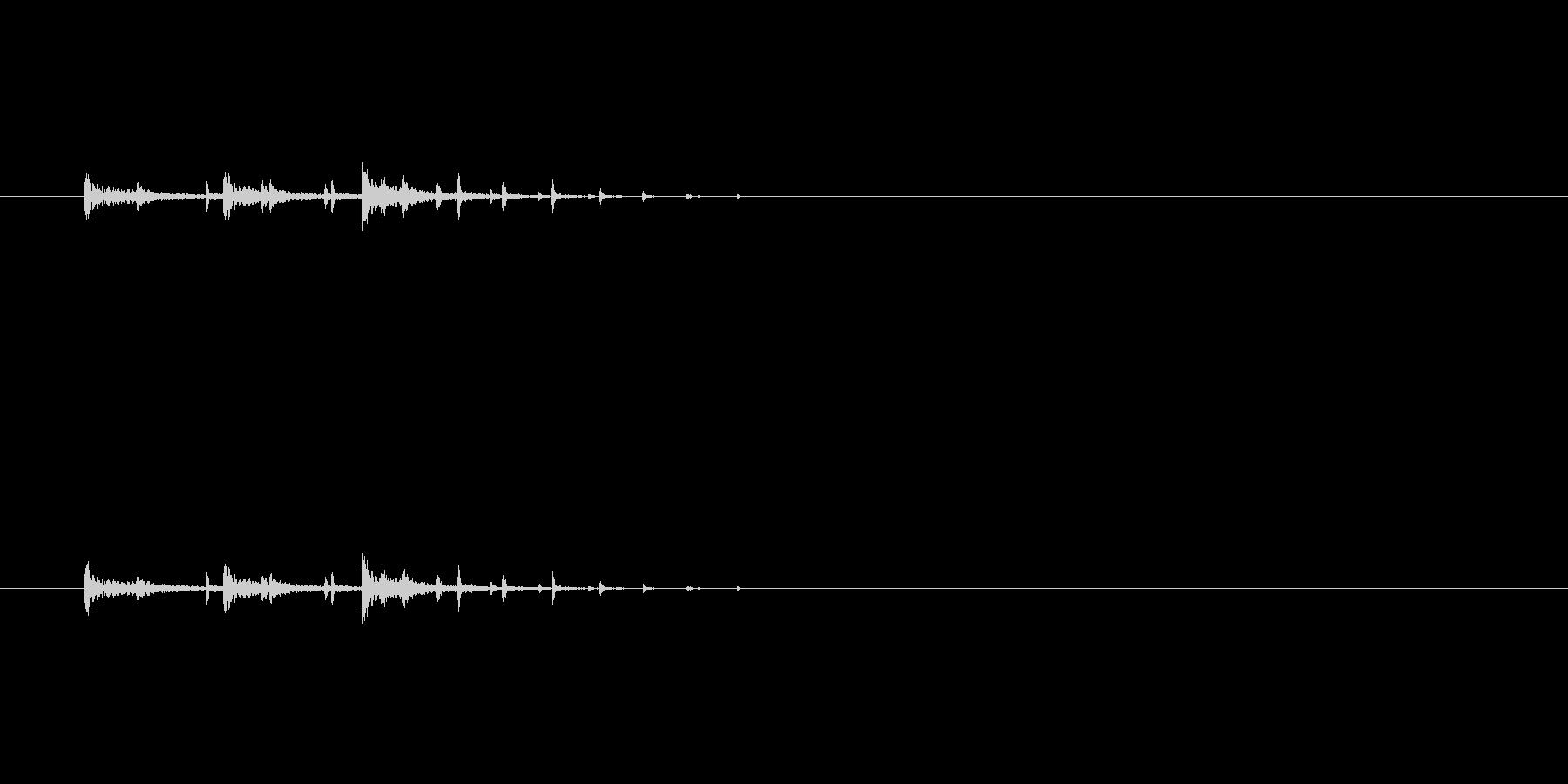 システム・ボタン音5の未再生の波形