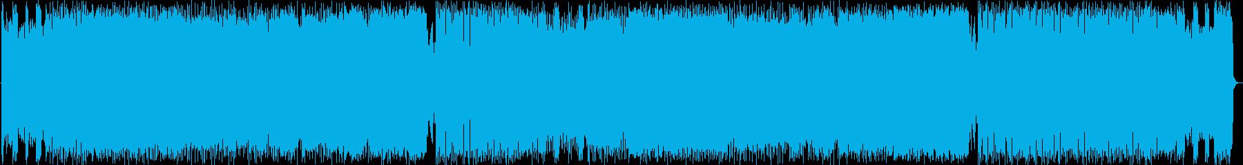 激情ハードロック,エレキギター,重低音の再生済みの波形