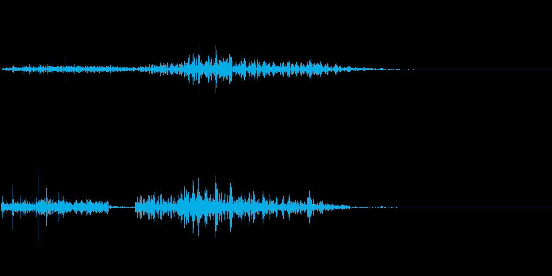 シャコッ(雪道)の再生済みの波形