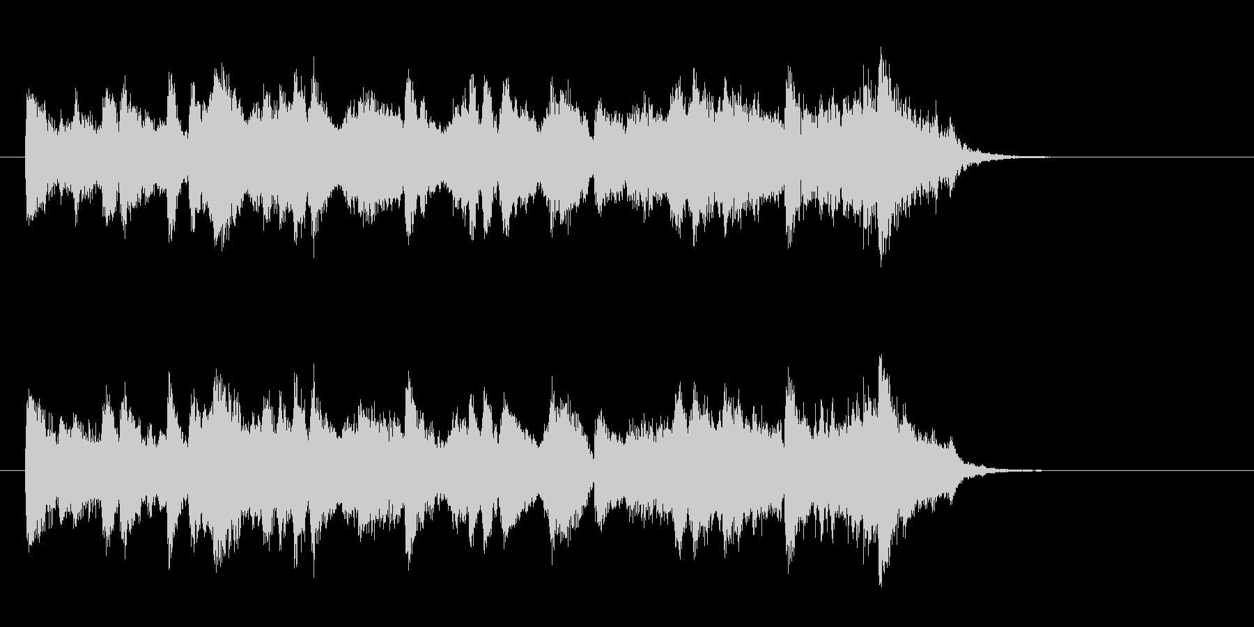 ジャズ風の優雅なBGM(サビ)の未再生の波形