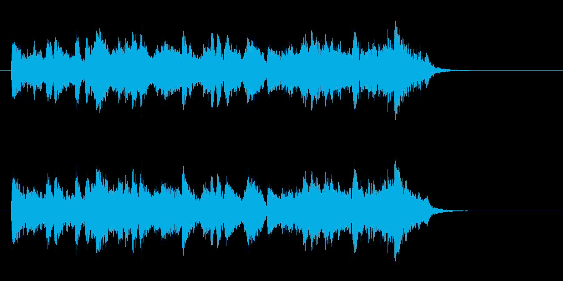 ジャズ風の優雅なBGM(サビ)の再生済みの波形