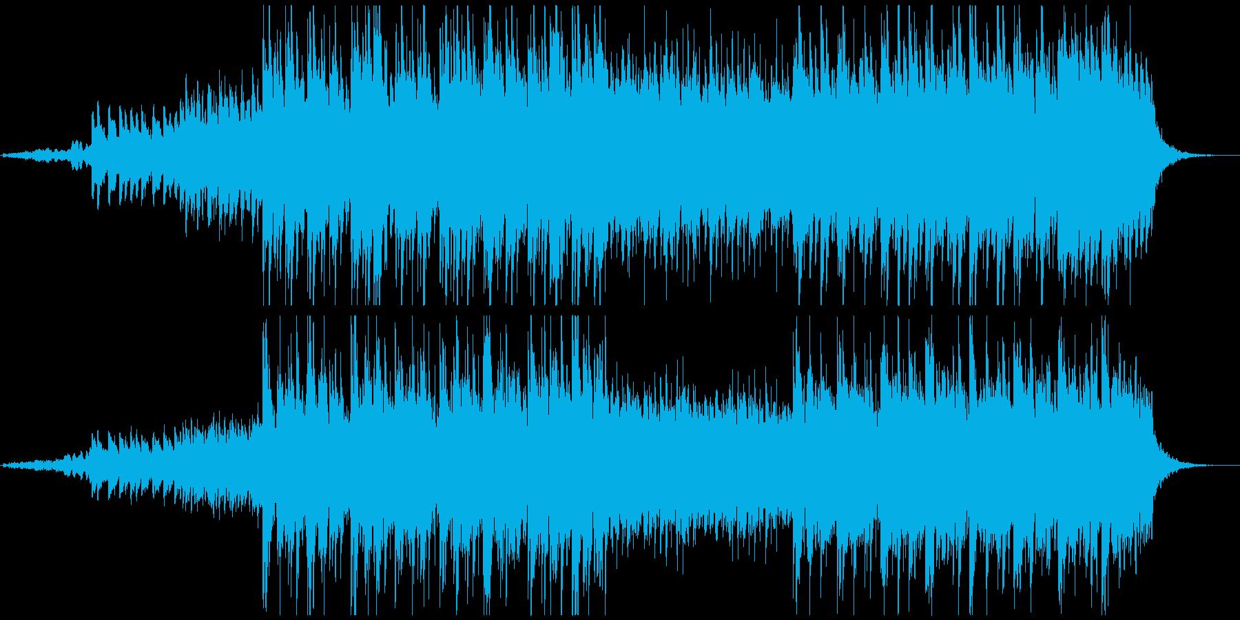 ピアノとシンセ主体の和風アンビエントの再生済みの波形