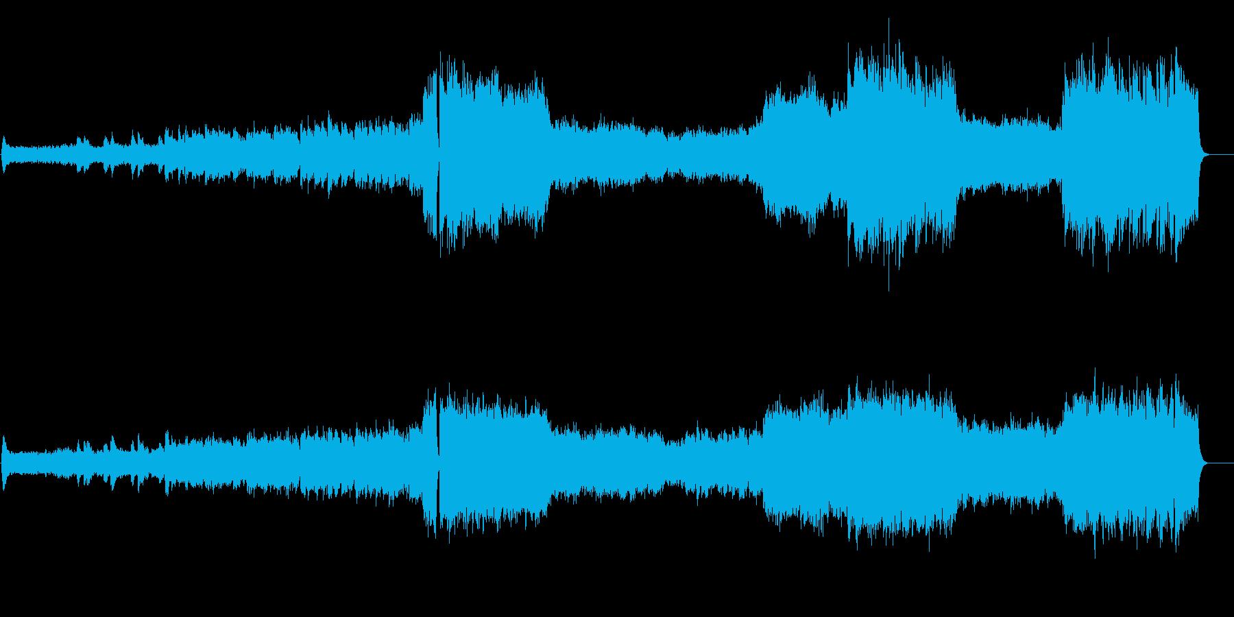 高揚する映画音楽風オーケストラ・サウンドの再生済みの波形