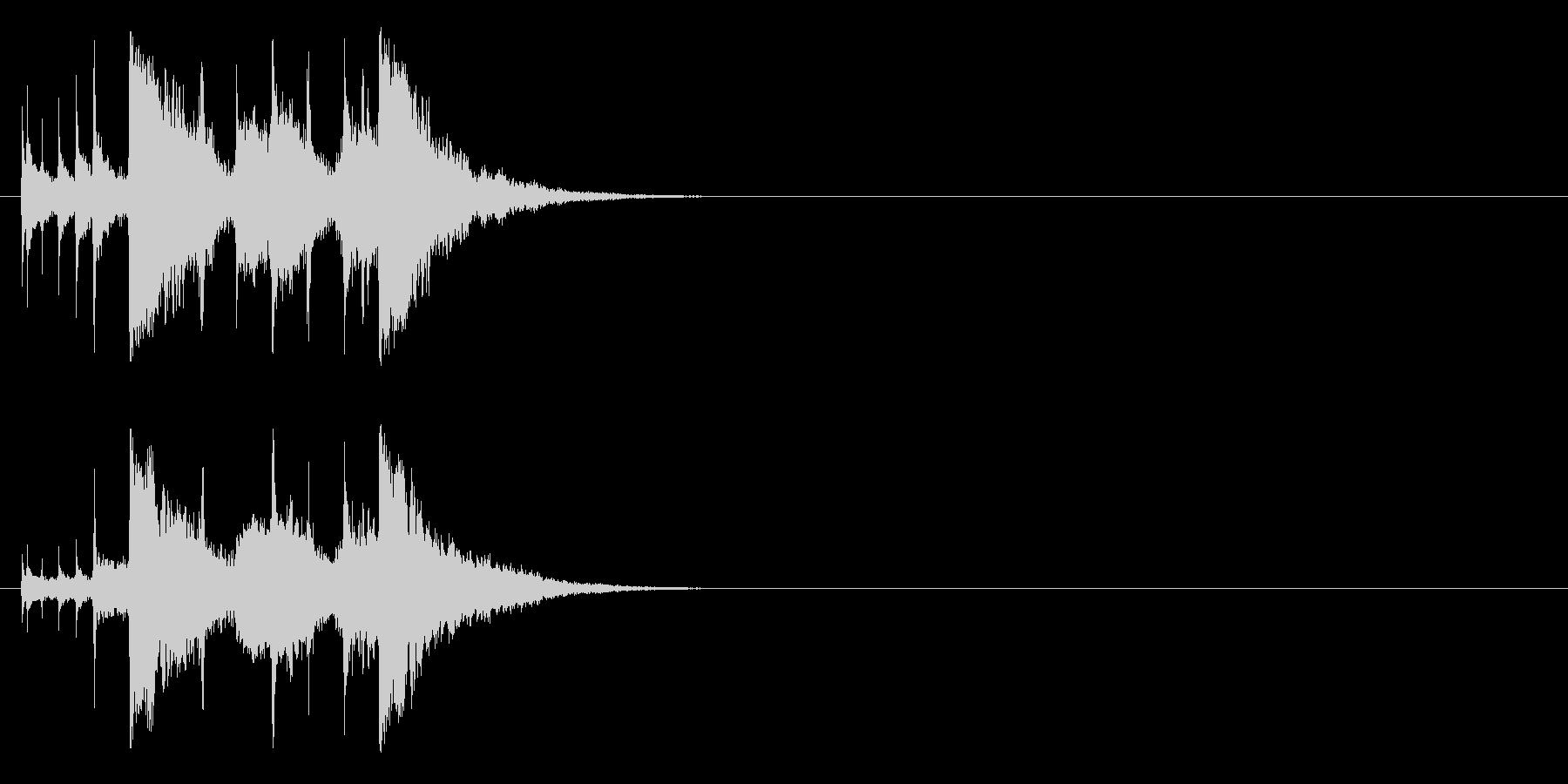 シタールを使用したインド風ジングルの未再生の波形