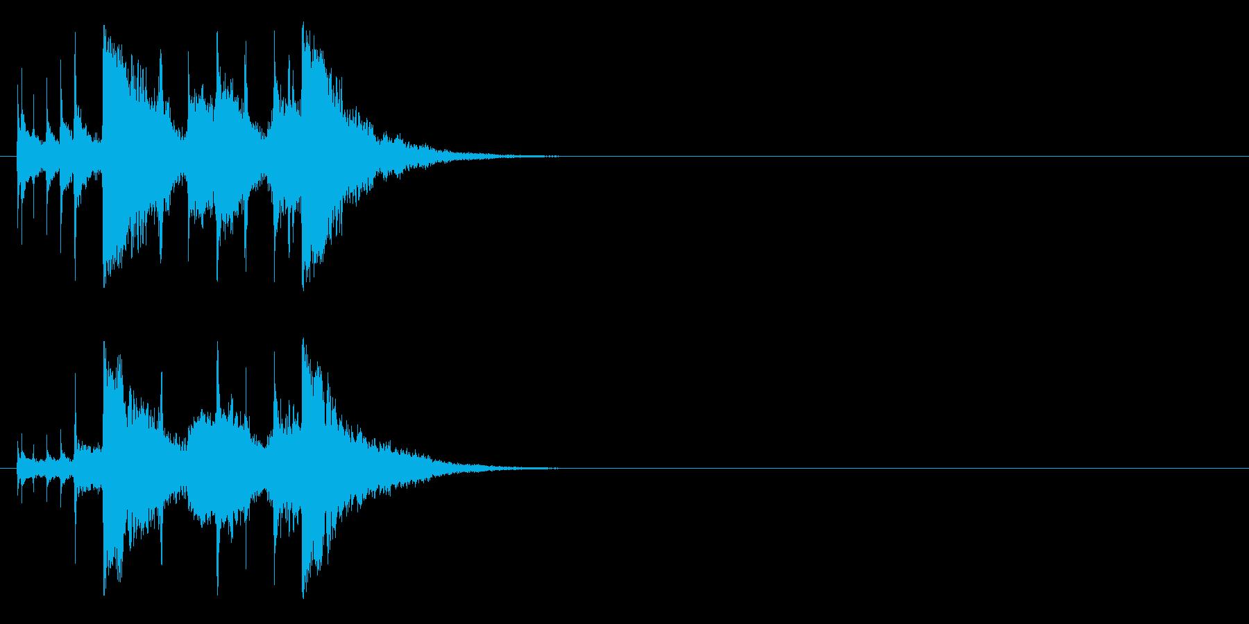 シタールを使用したインド風ジングルの再生済みの波形