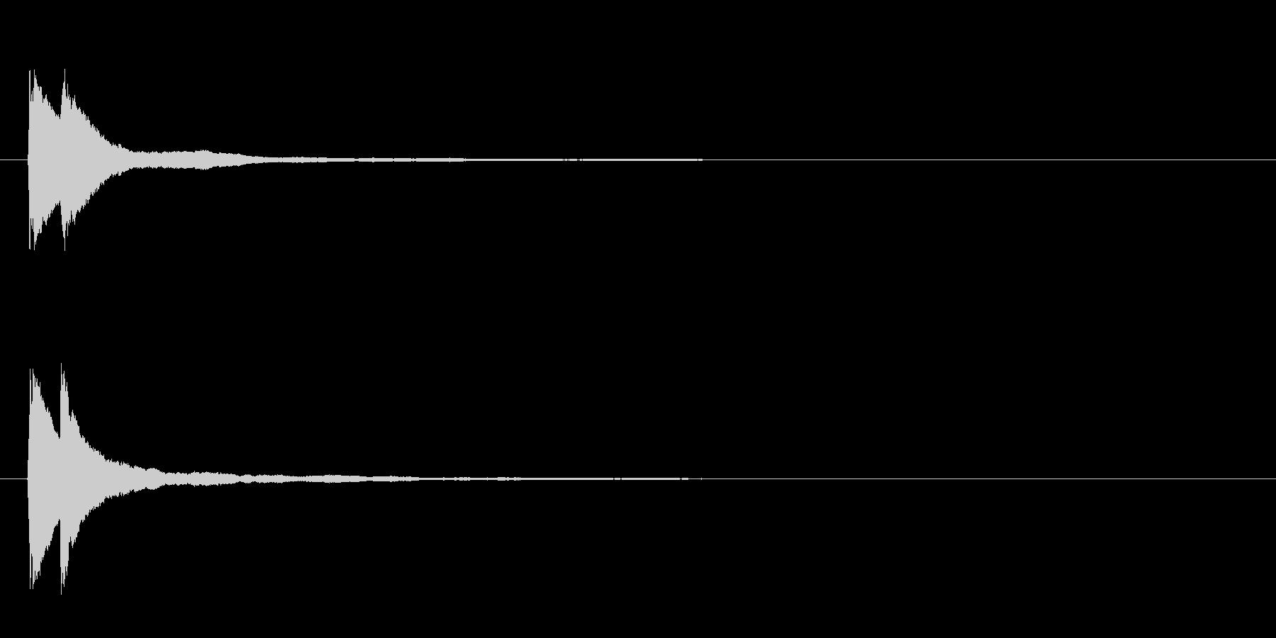 【ピコン/キラーン】ピアノによる決定音の未再生の波形