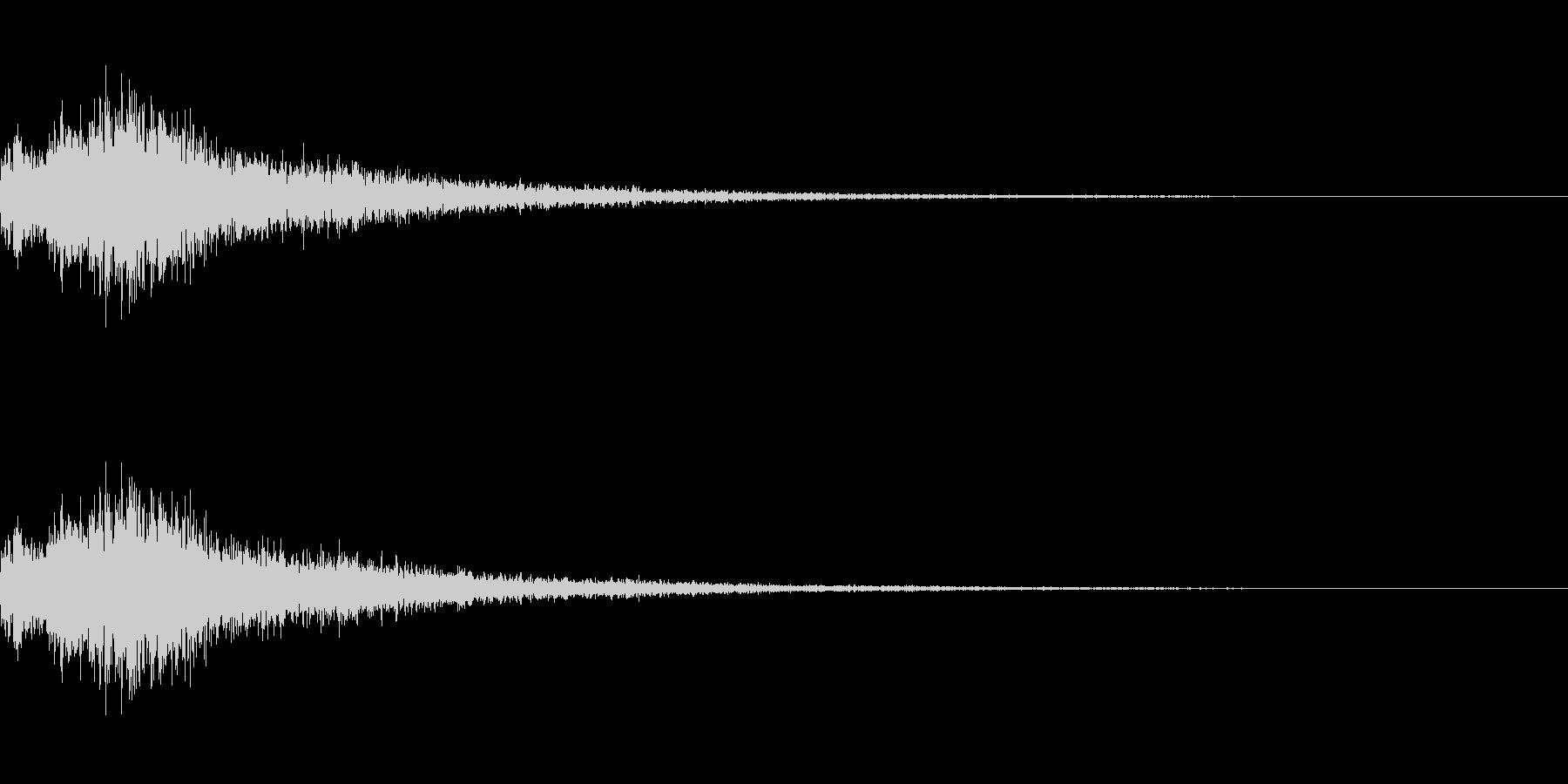 決定/選択/クリック/ボタン(ブワンッ)の未再生の波形
