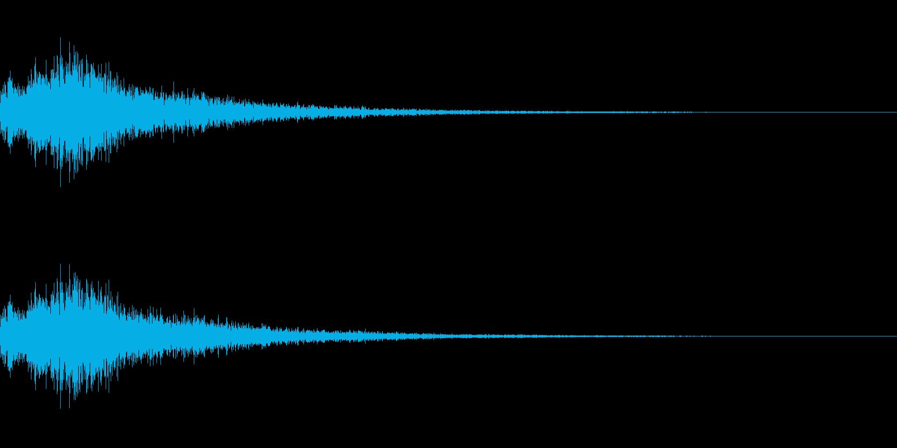 決定/選択/クリック/ボタン(ブワンッ)の再生済みの波形