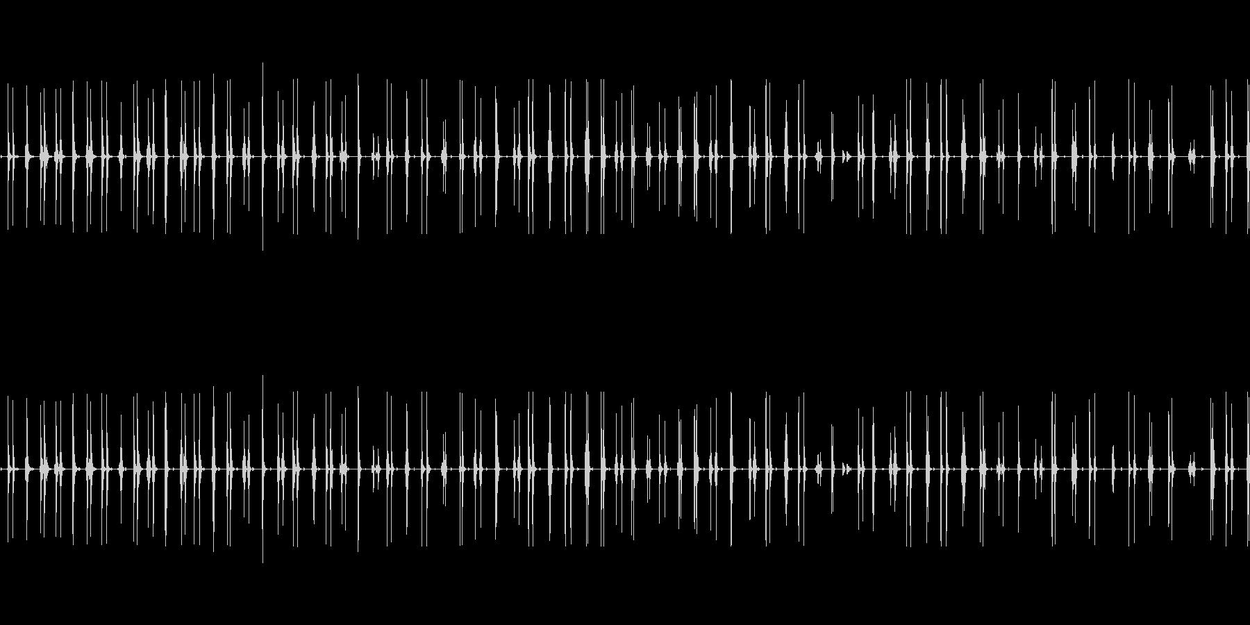 カタカタ震える(怖がる演出に)の未再生の波形