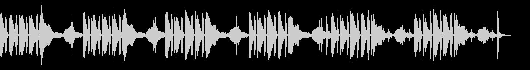 かわいいハロウィンのようなコミカルな曲の未再生の波形