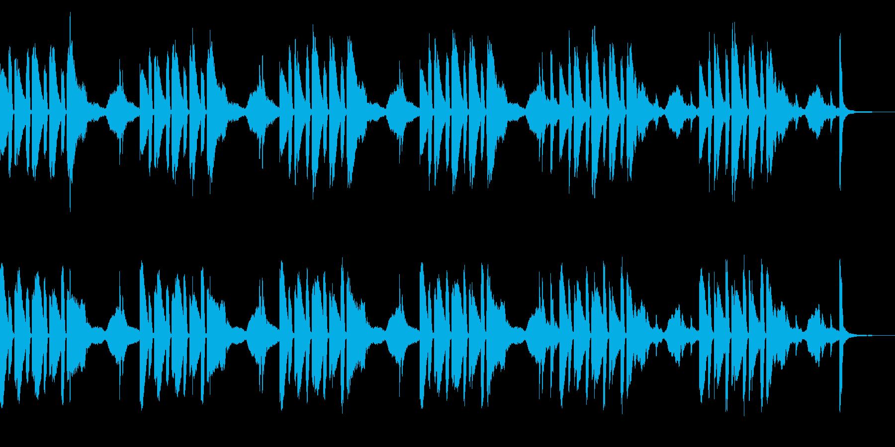 かわいいコミカルなアニメのワンシーンの再生済みの波形