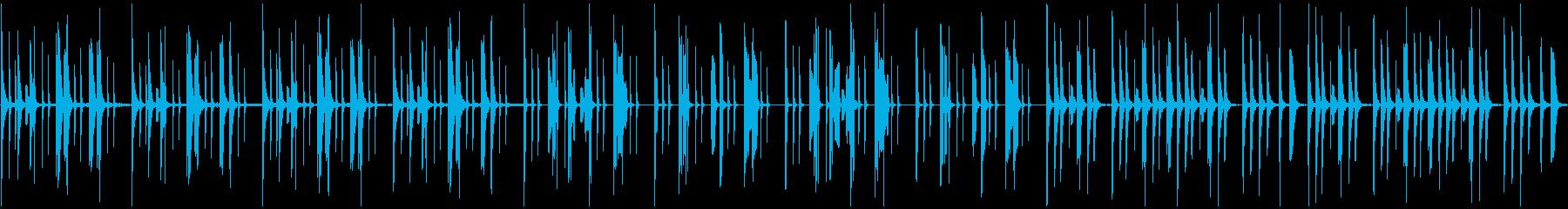 おどけた雰囲気の木琴と笛の楽曲の再生済みの波形
