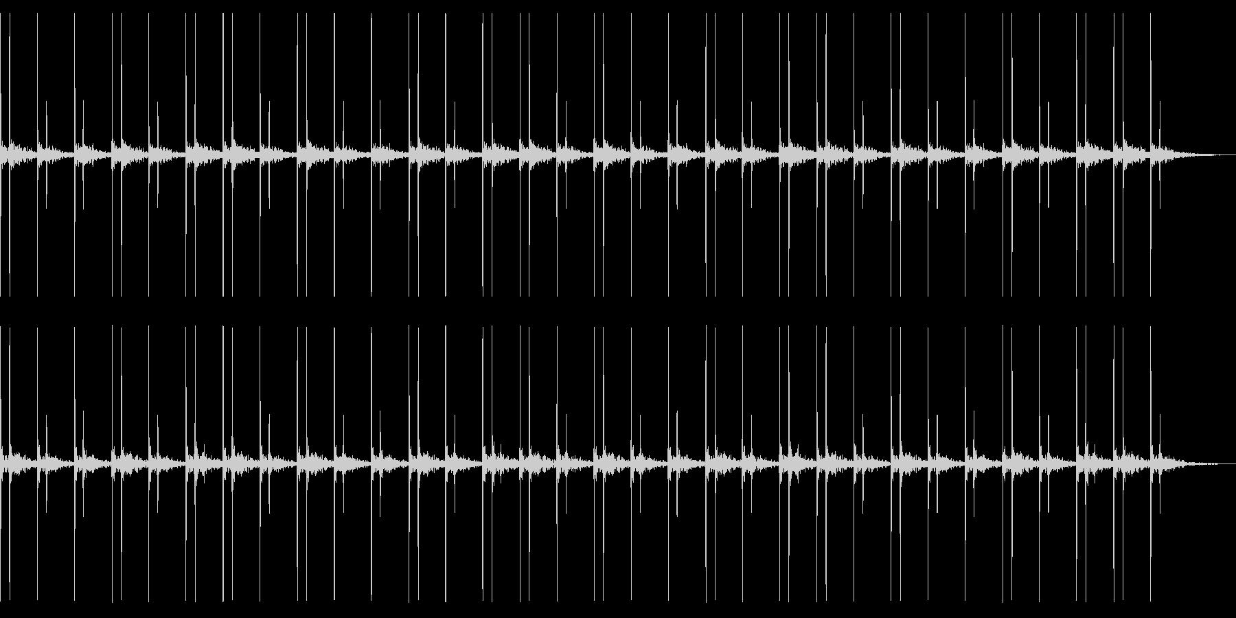 リバーブのかかった心臓音の未再生の波形