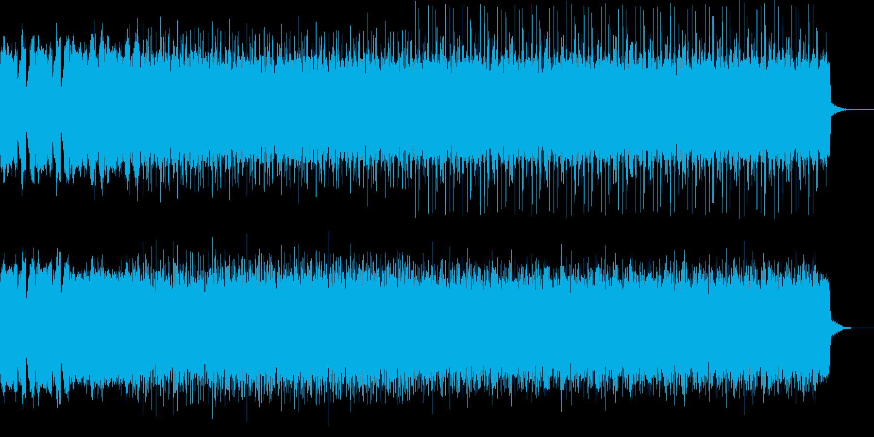 かっこいいテクノロック音楽の再生済みの波形