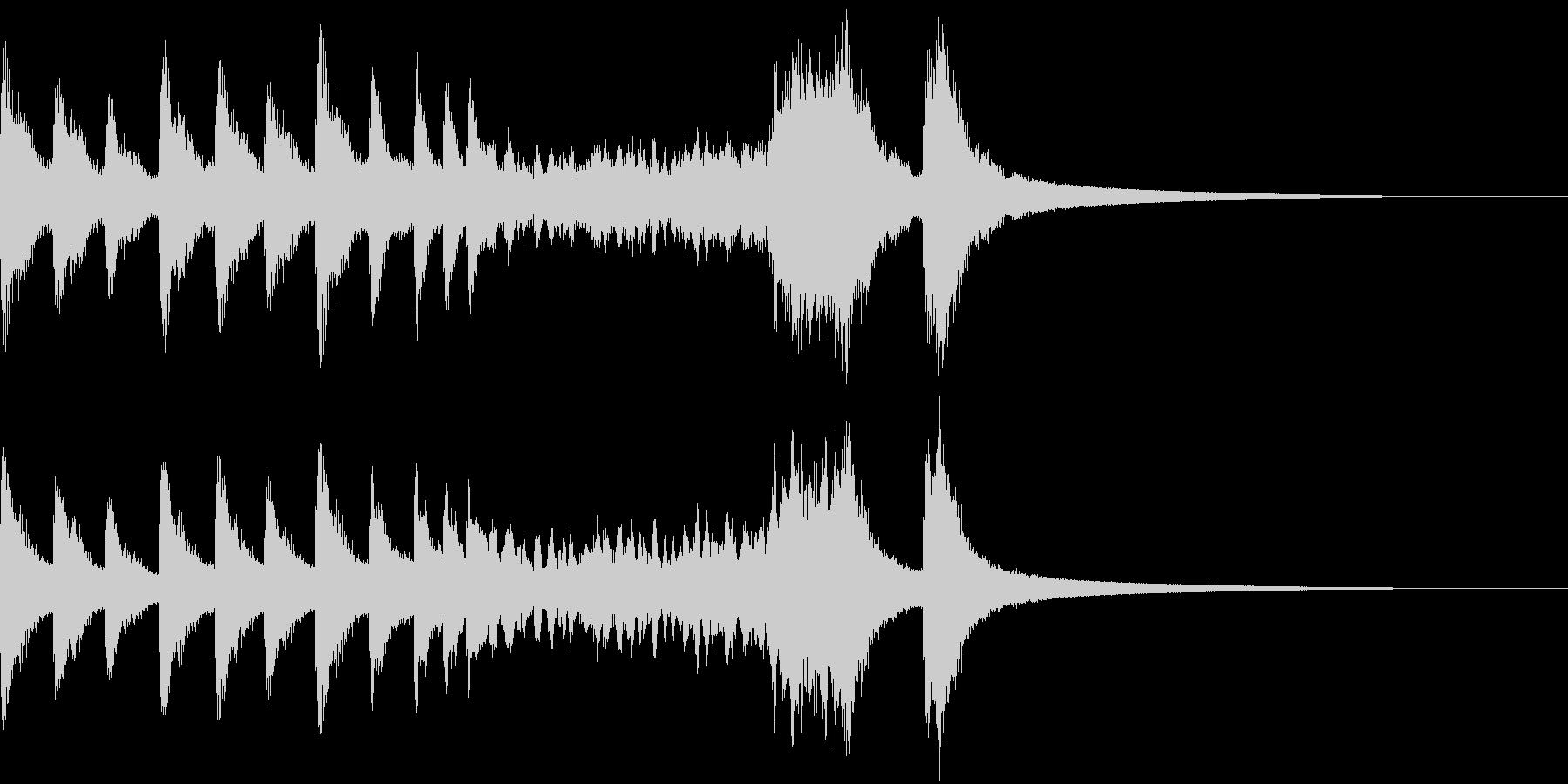 パーンパーンパーン! 銅鑼のロール音の未再生の波形