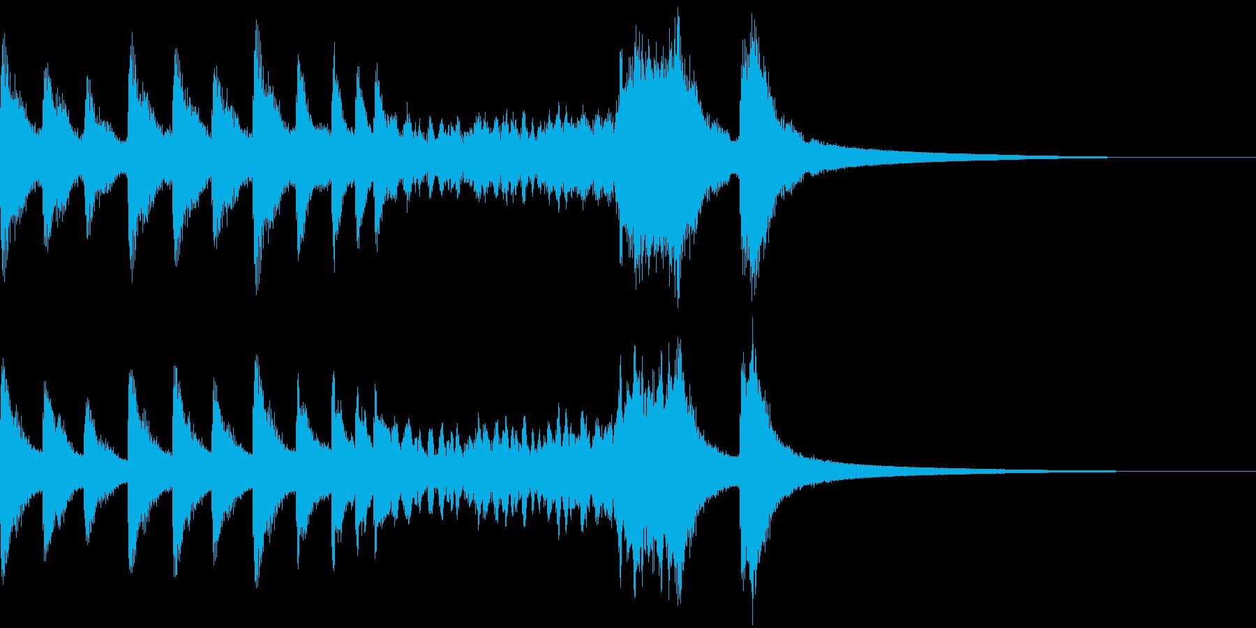 パーンパーンパーン! 銅鑼のロール音の再生済みの波形