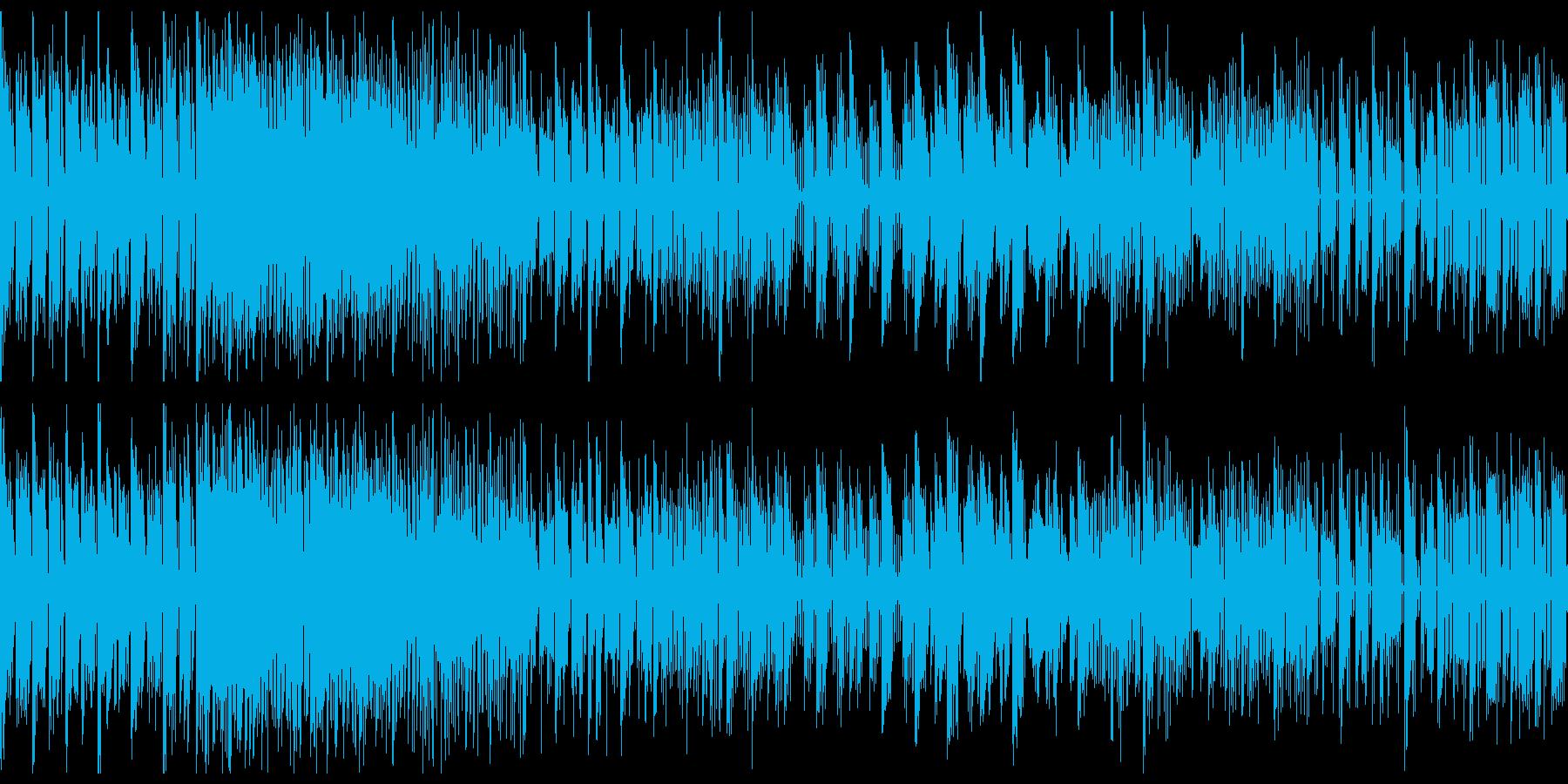 ローファイなビートのチップチューンの再生済みの波形