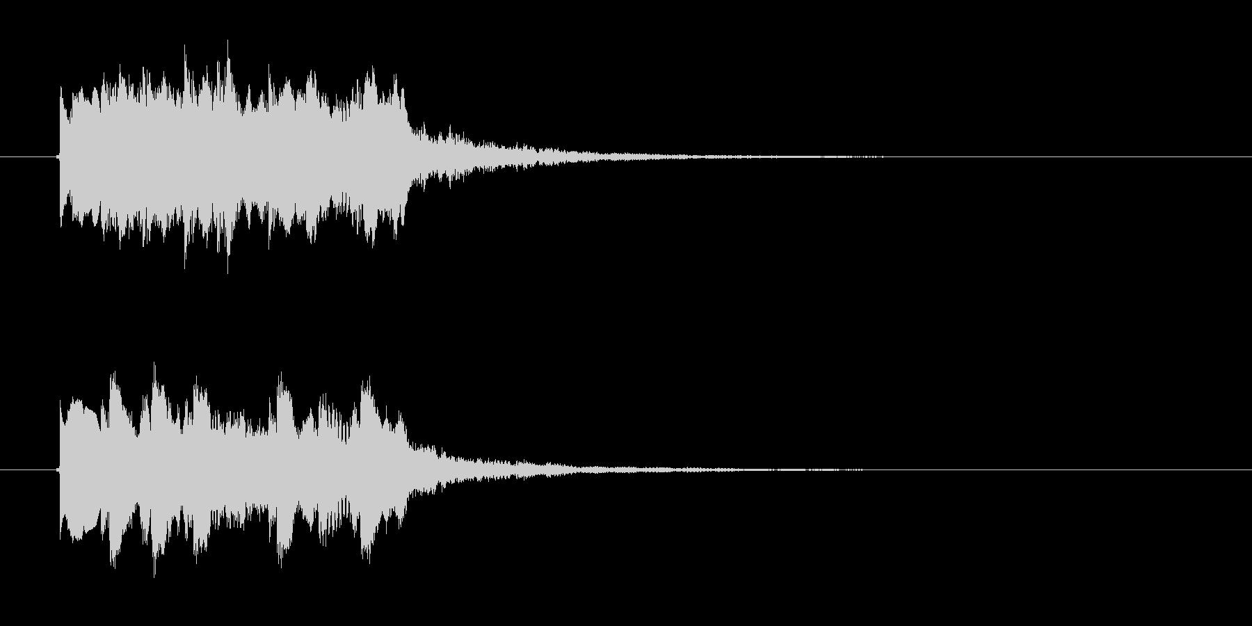 キラキラキララン(高音のお知らせ音)の未再生の波形