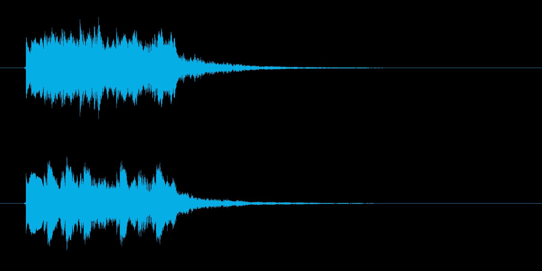 キラキラキララン(高音のお知らせ音)の再生済みの波形