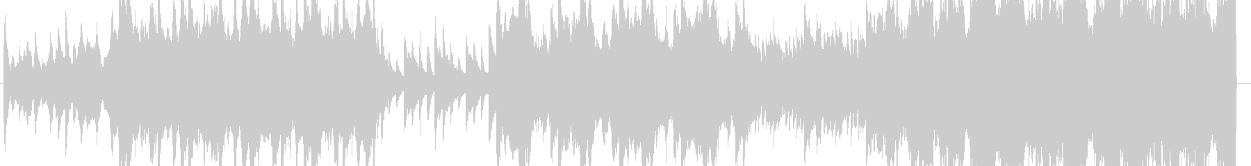 ピアノとコーラスが神秘的で幻想的な曲の未再生の波形