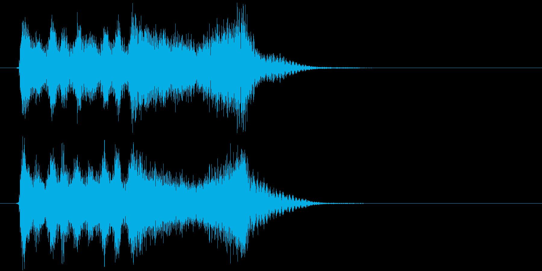 生演奏:疾走感のある弦楽四重奏&SEの再生済みの波形