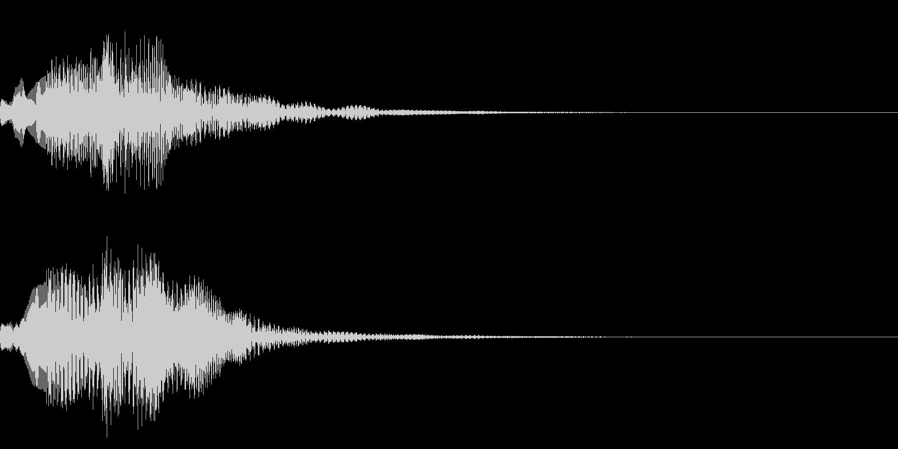 画面でメニューを選択し決定した時の音の未再生の波形