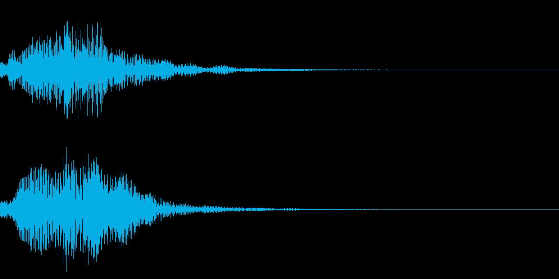 画面でメニューを選択し決定した時の音の再生済みの波形