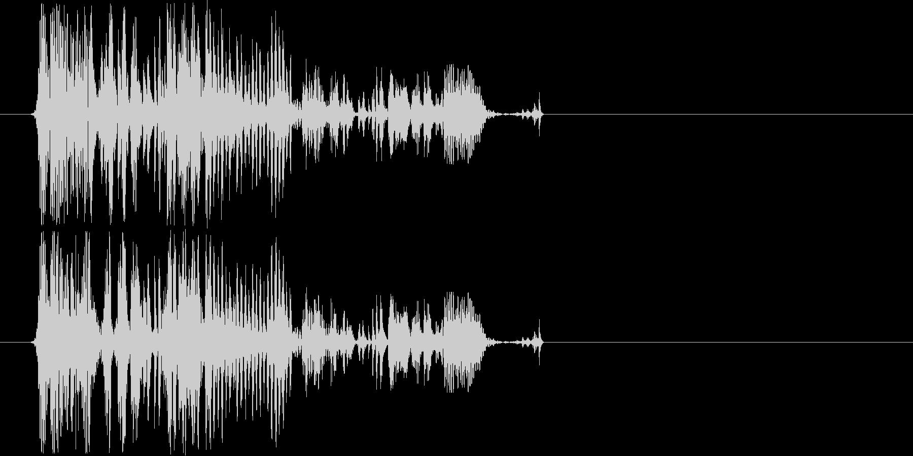 近未来を想像させる音の未再生の波形
