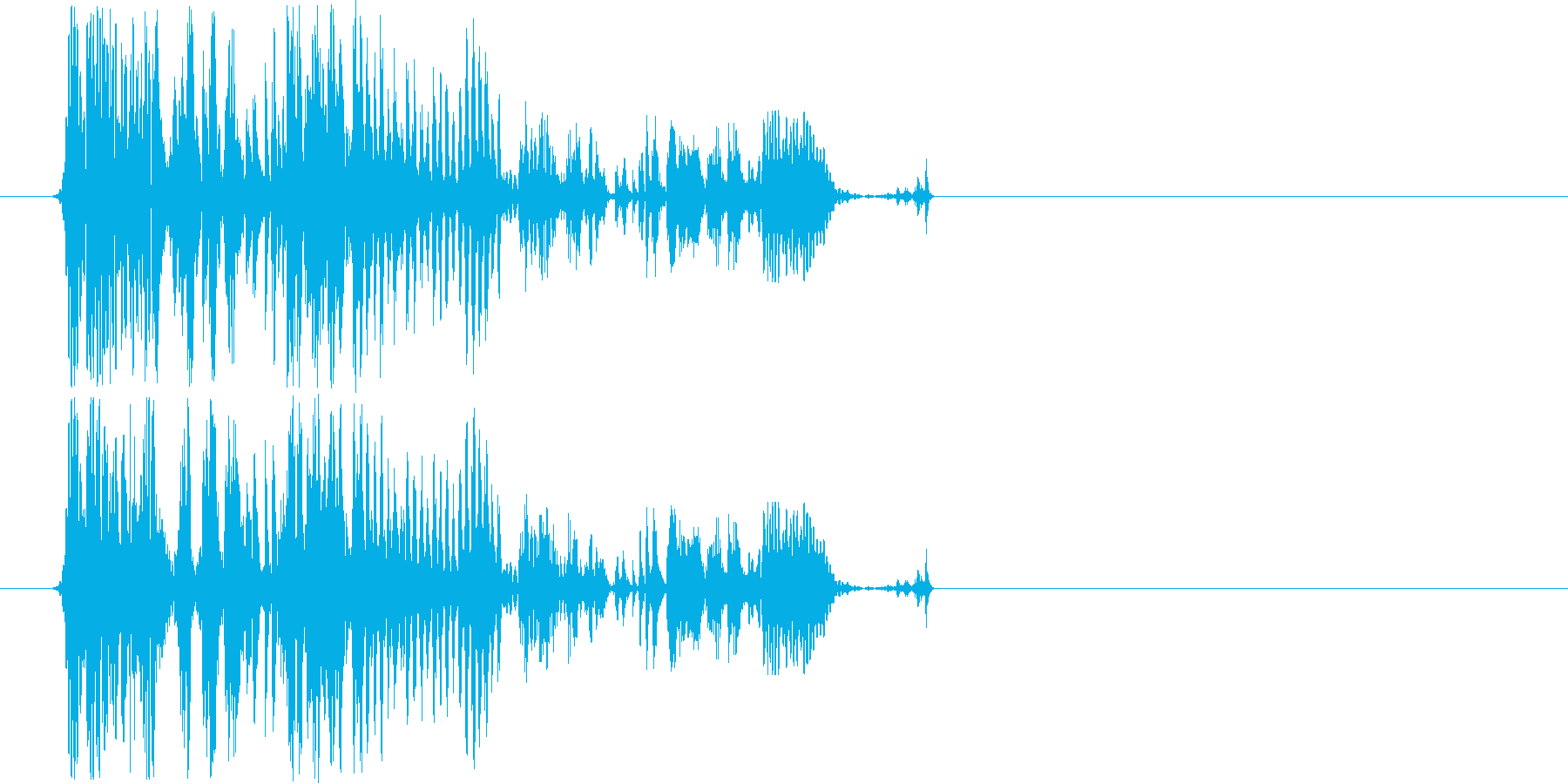 近未来を想像させる音の再生済みの波形