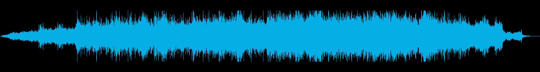 女性の高音の歌声が印象的なポップスの再生済みの波形