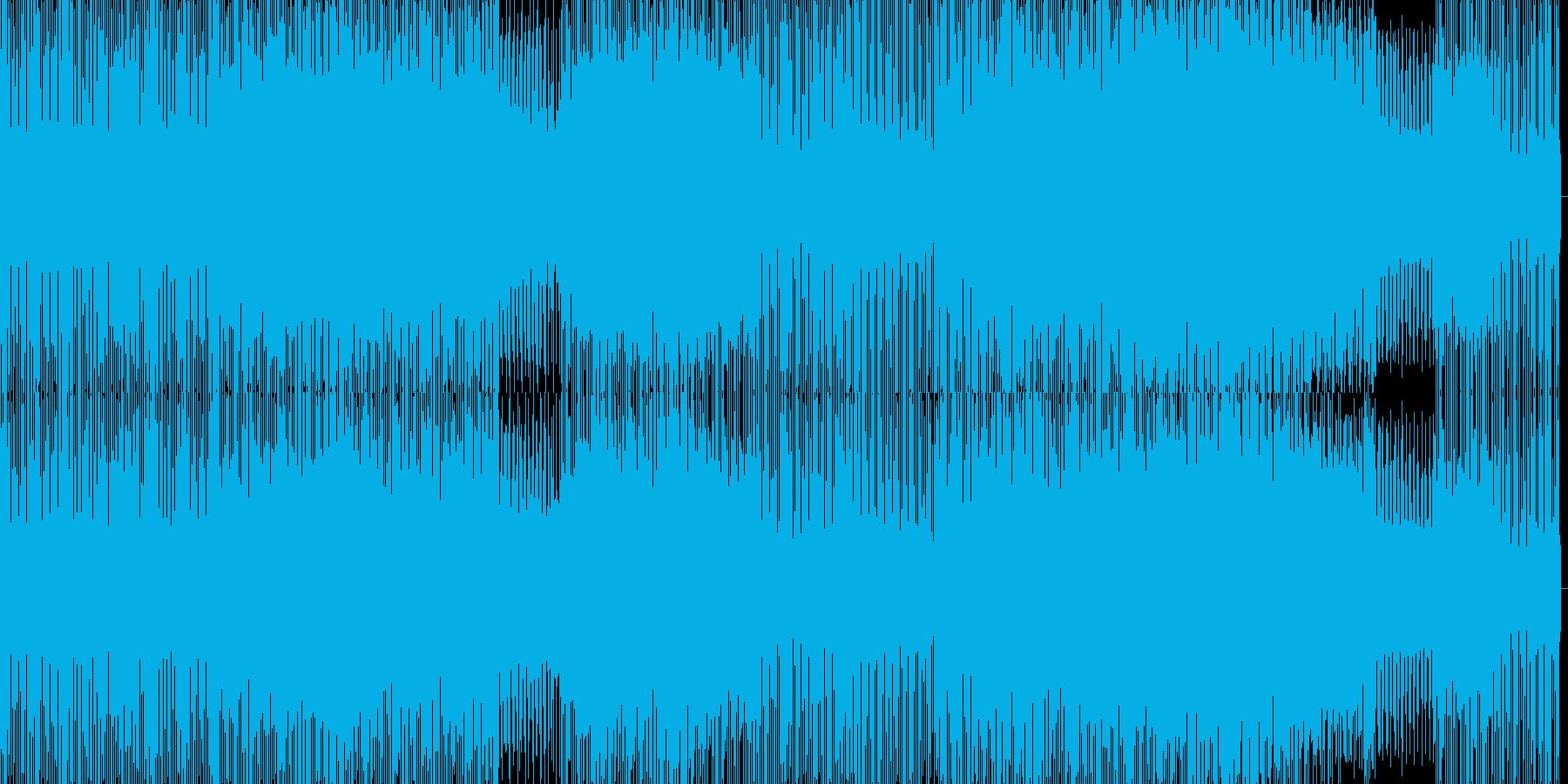 泡のような音が鳴り響くハウスの再生済みの波形