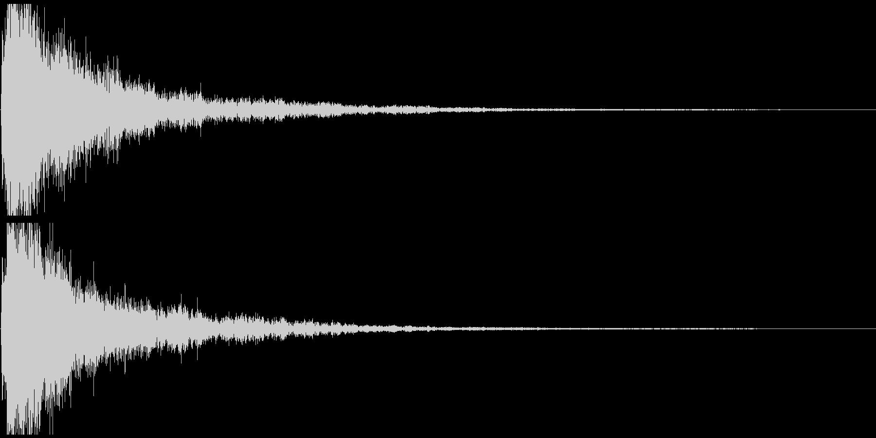 ボヨヨヨン~ ぶっ飛ばされた時の効果音の未再生の波形