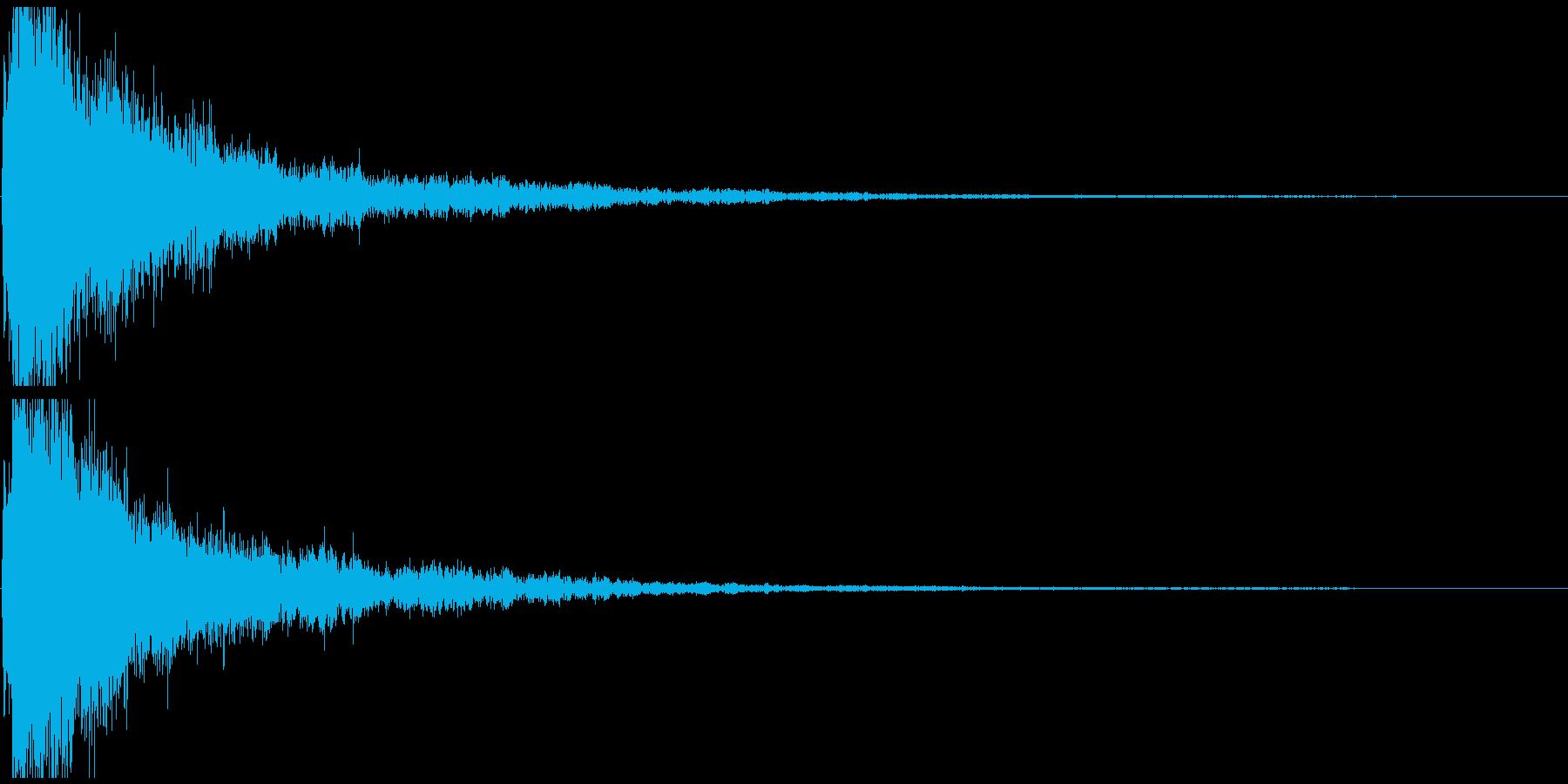 ボヨヨヨン~ ぶっ飛ばされた時の効果音の再生済みの波形