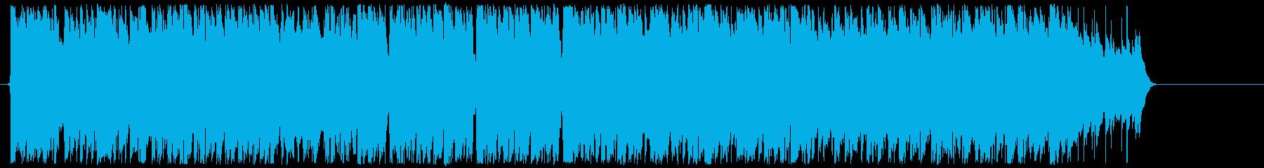 不良をイメージしたワイルドなロックの再生済みの波形