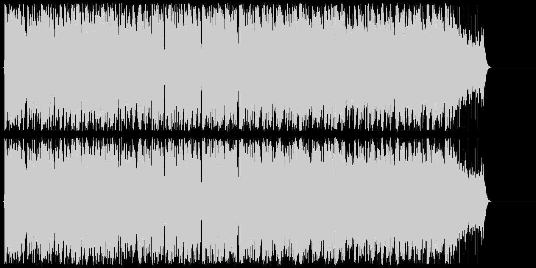 不良をイメージしたワイルドなロックの未再生の波形