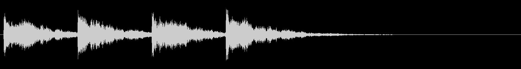 幻想的なサウンドロゴ、ジングルの未再生の波形