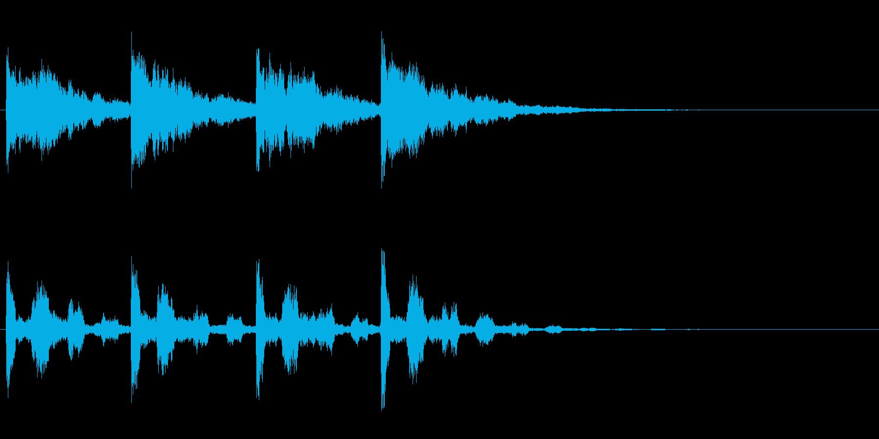 幻想的なサウンドロゴ、ジングルの再生済みの波形
