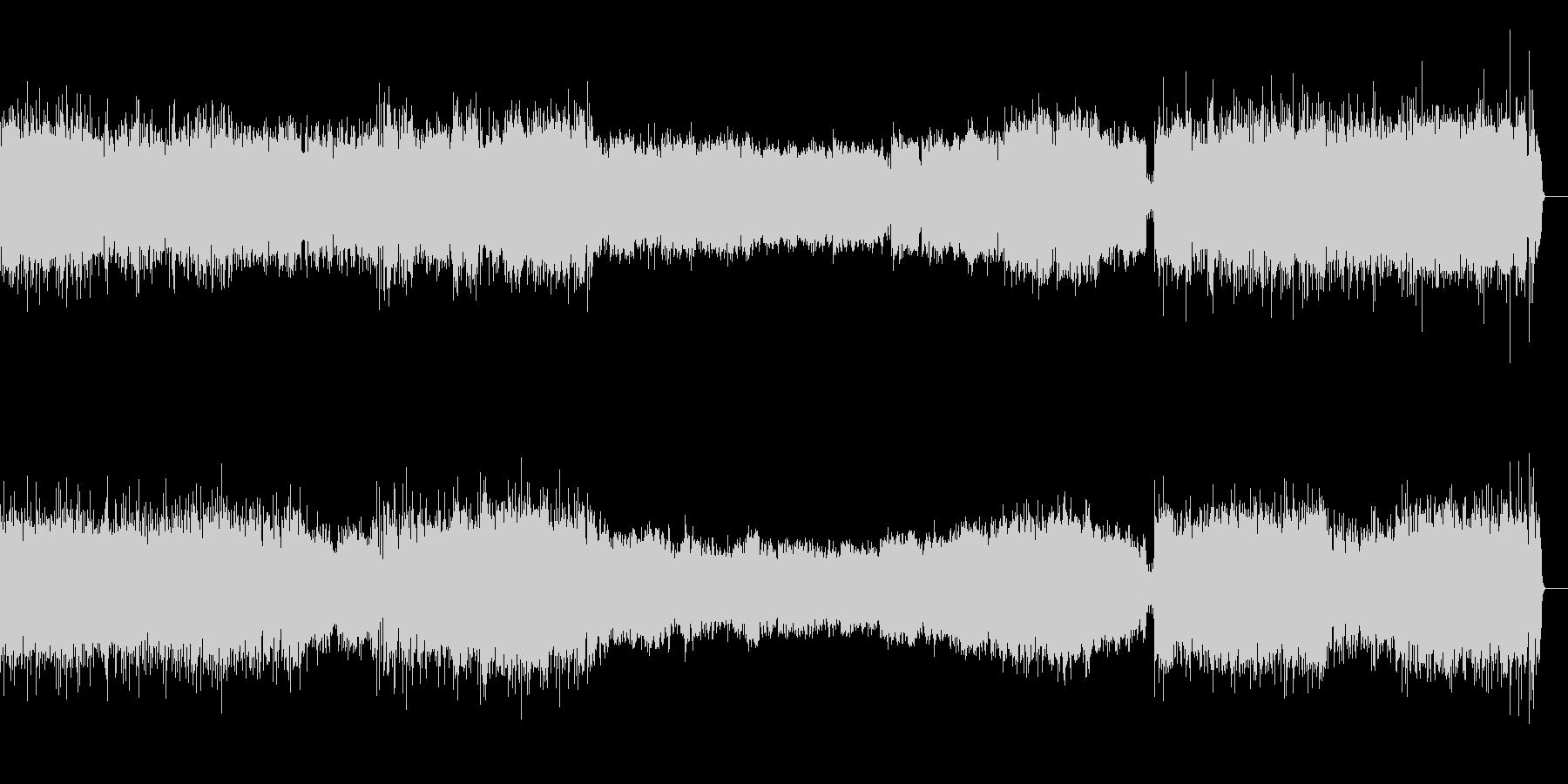 活発な吹奏楽のサウンドの未再生の波形