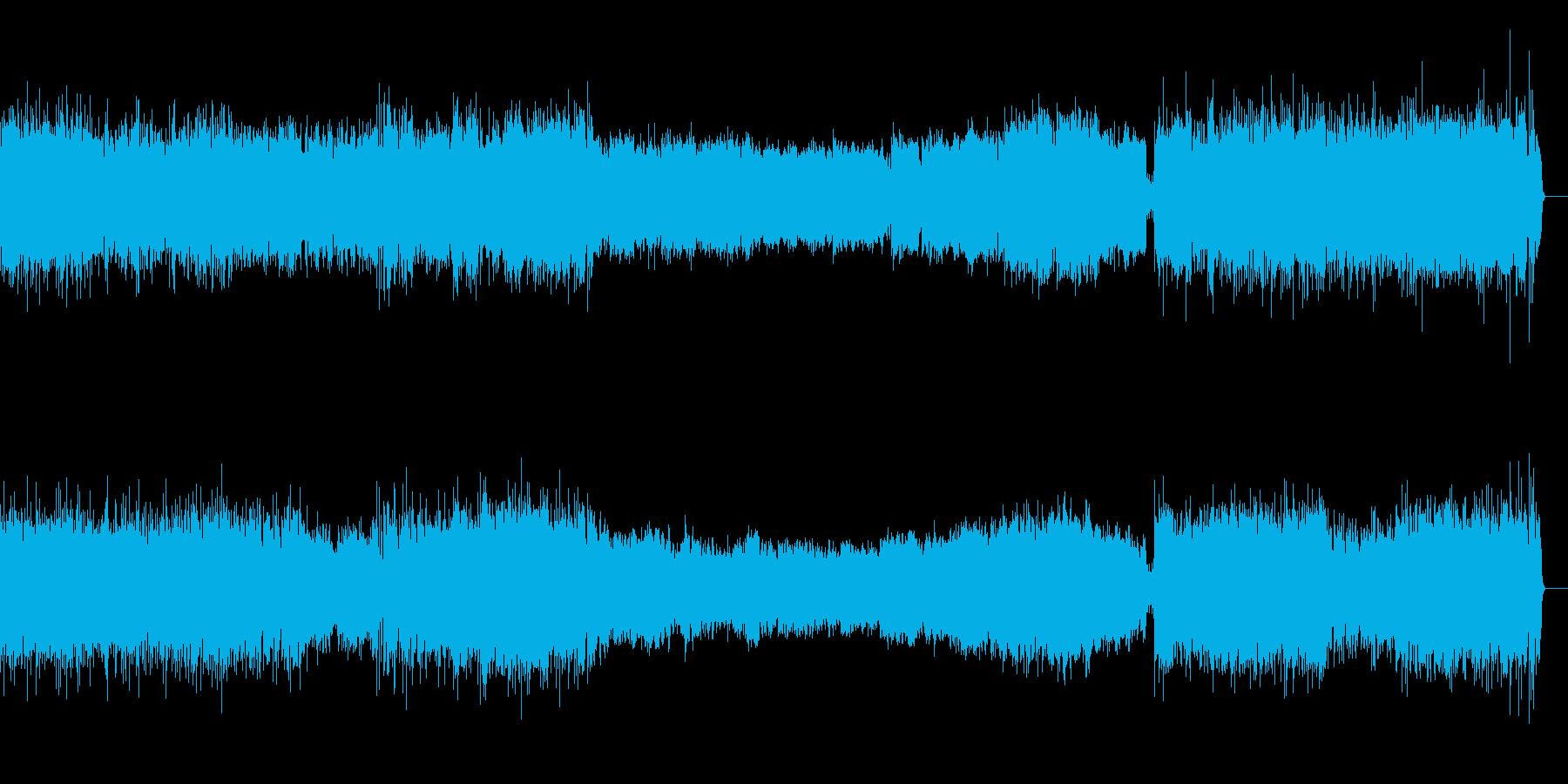 活発な吹奏楽のサウンドの再生済みの波形